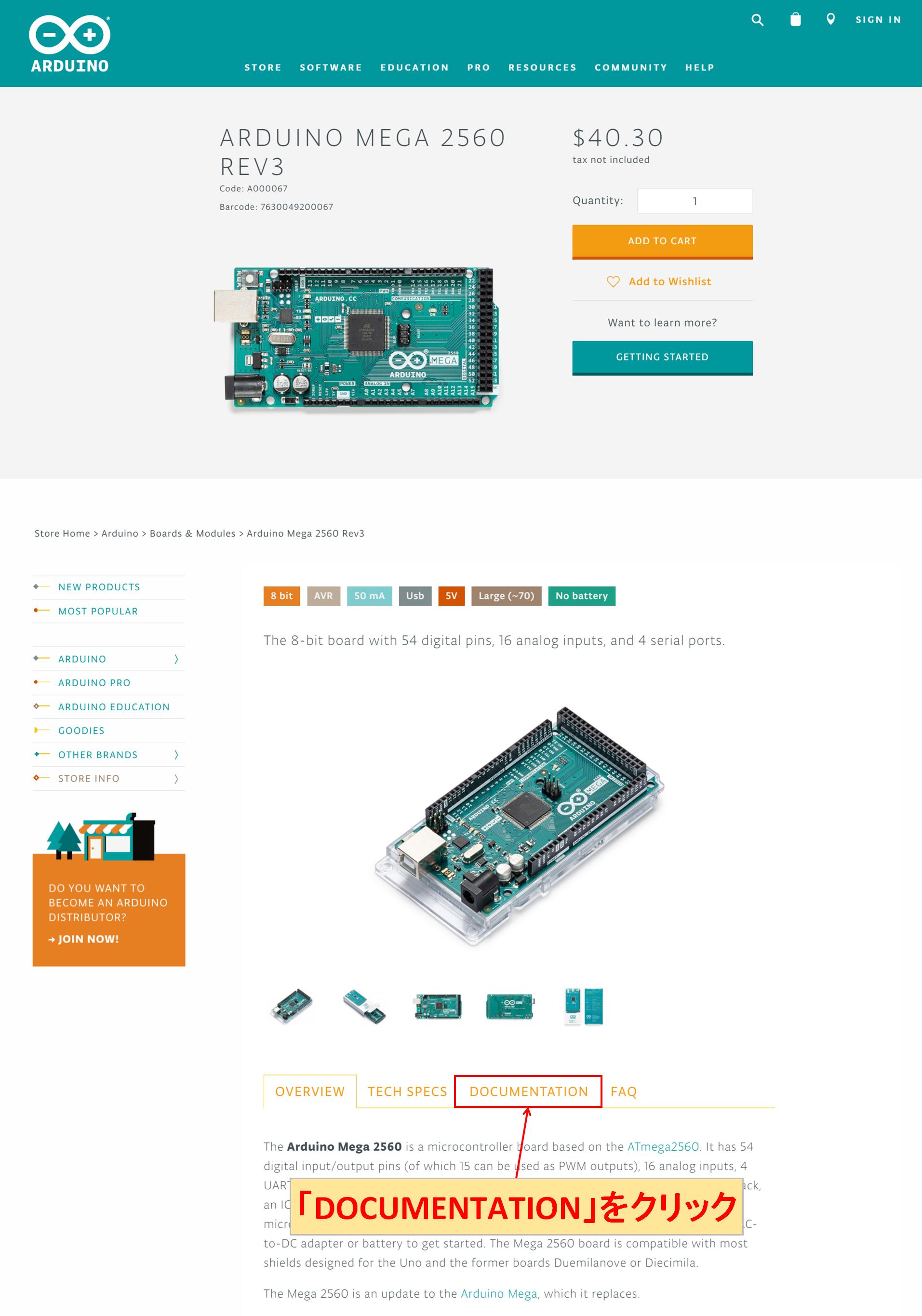 Arduino Mega 2560 DOCUMENTATION