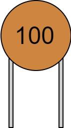 リード付きコンデンサ 数字表示 100 読み方