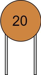 リード付きコンデンサ 数字表示 20 読み方