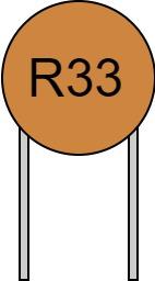 リード付きコンデンサ 数字表示 R33 読み方