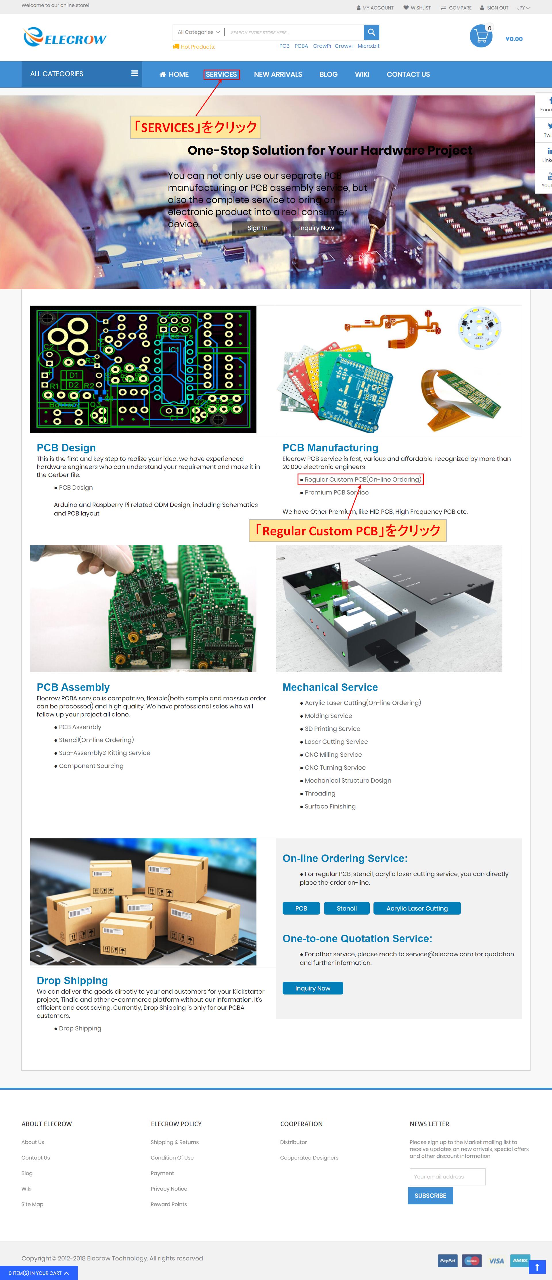 Elecrow SERVICES PCB Manufacturing Regular Custom PCB
