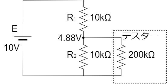テスター 測定回路 入力抵抗200kΩ