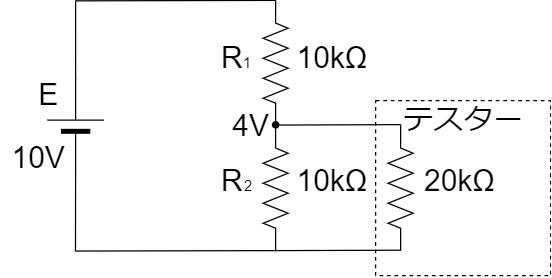 テスター 測定回路 入力抵抗20kΩ