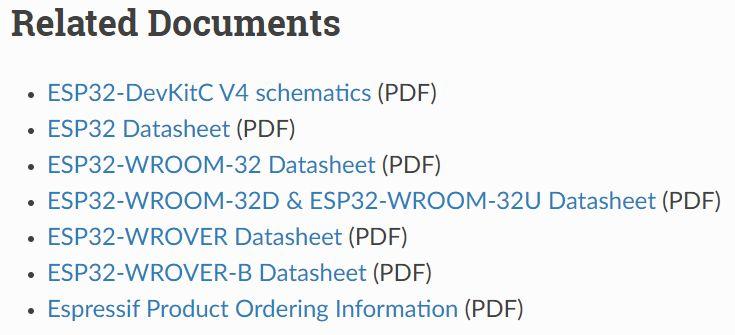 ESP32-WROOM-32D開発ボード 技術資料 ダウンロード