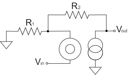 オペアンプ 非反転増幅回路 ヌラーモデル
