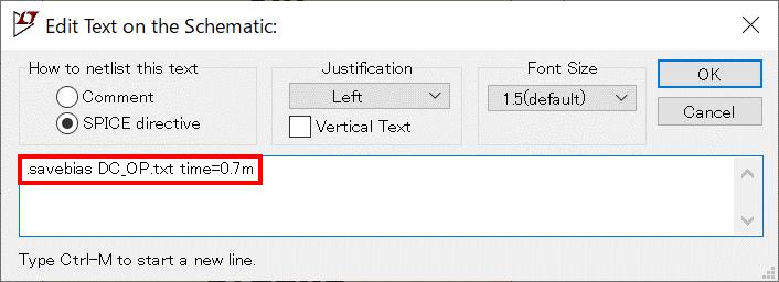 LTspice XVII LT3580 .savebias 構文