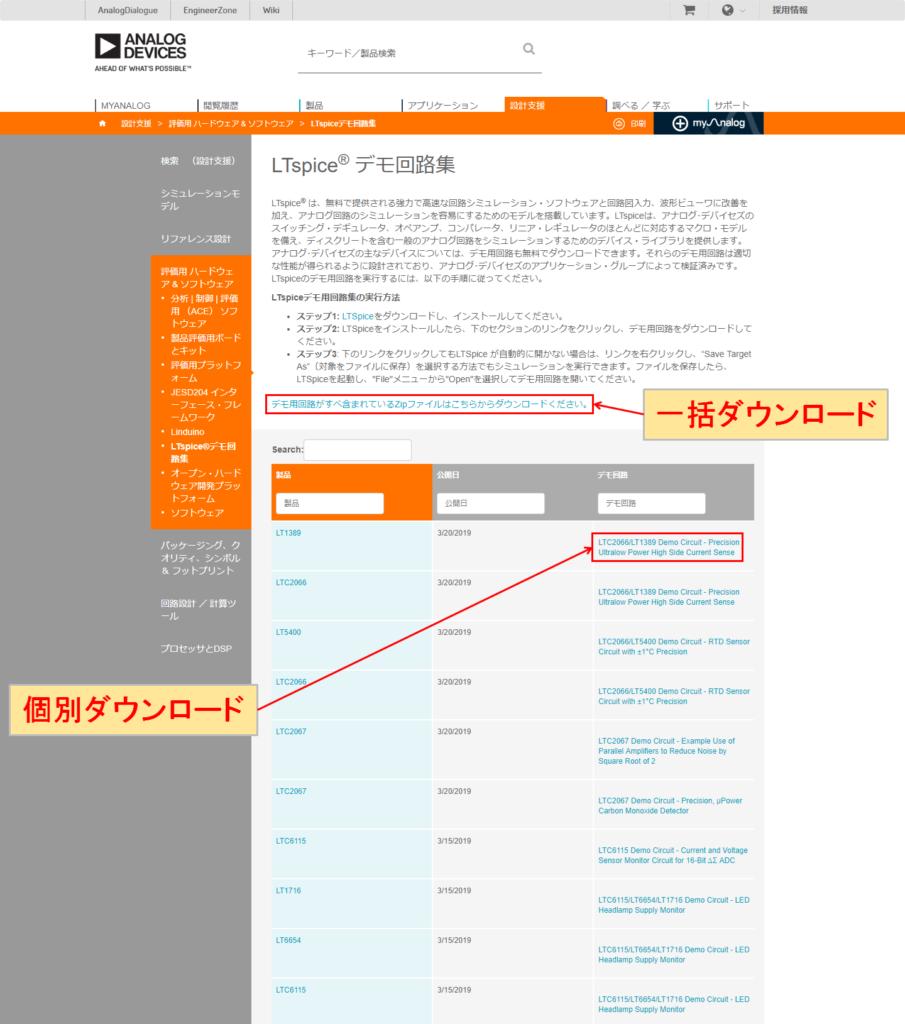 アナログ・デバイシズ デモ回路 ダウンロード