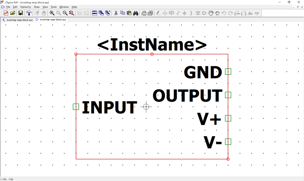 LTspice XVII 回路図シンボル 自動作成
