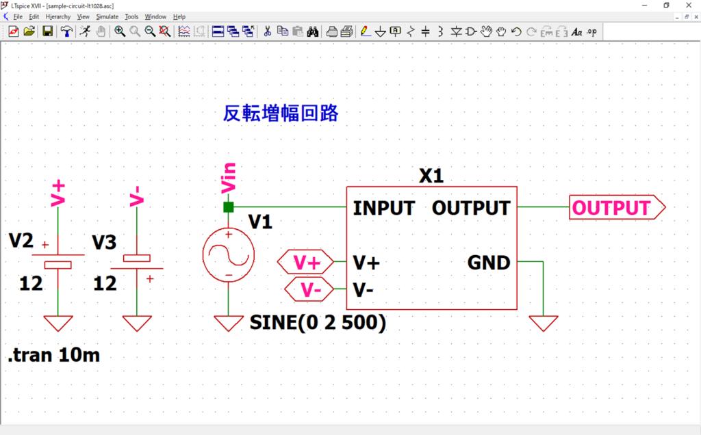 LTspice XVII ブロック回路 配置 配線