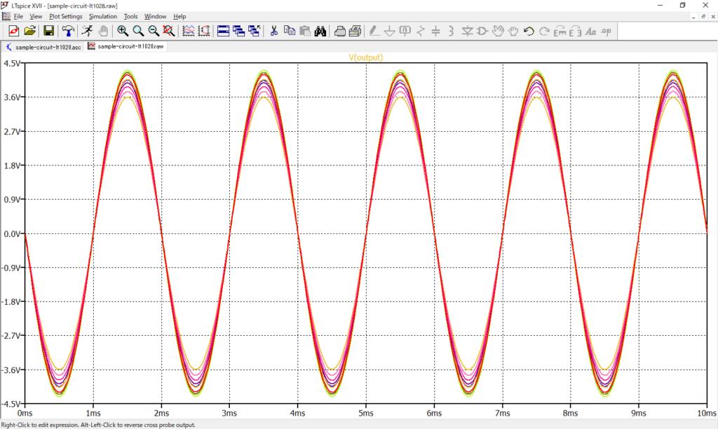 LTspice XVII 電圧波形 バラツキ