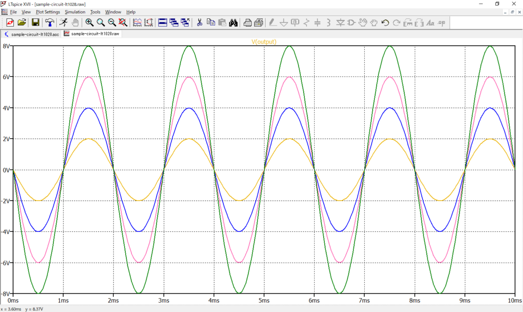 LTspice XVII 電圧波形