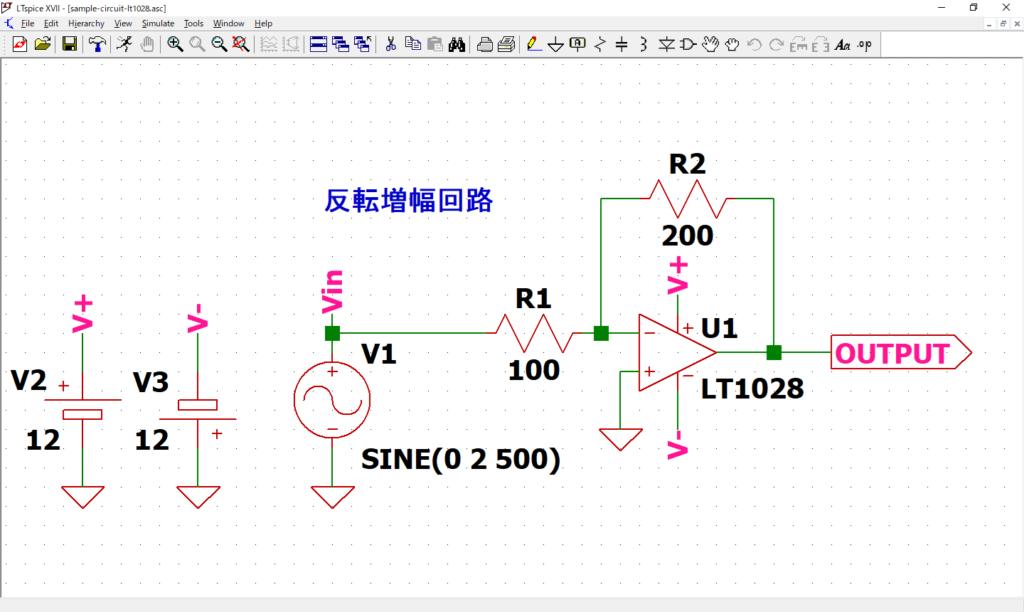 LTspice XVII パラメトリック解析 回路図