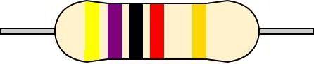 5バンド抵抗 カラーコード 読み方