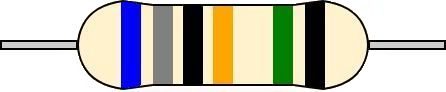 6バンド抵抗 カラーコード 読み方