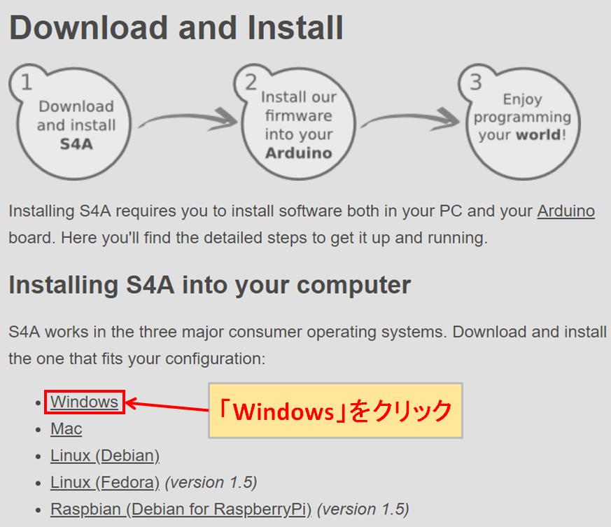 S4A ダウンロード Windows